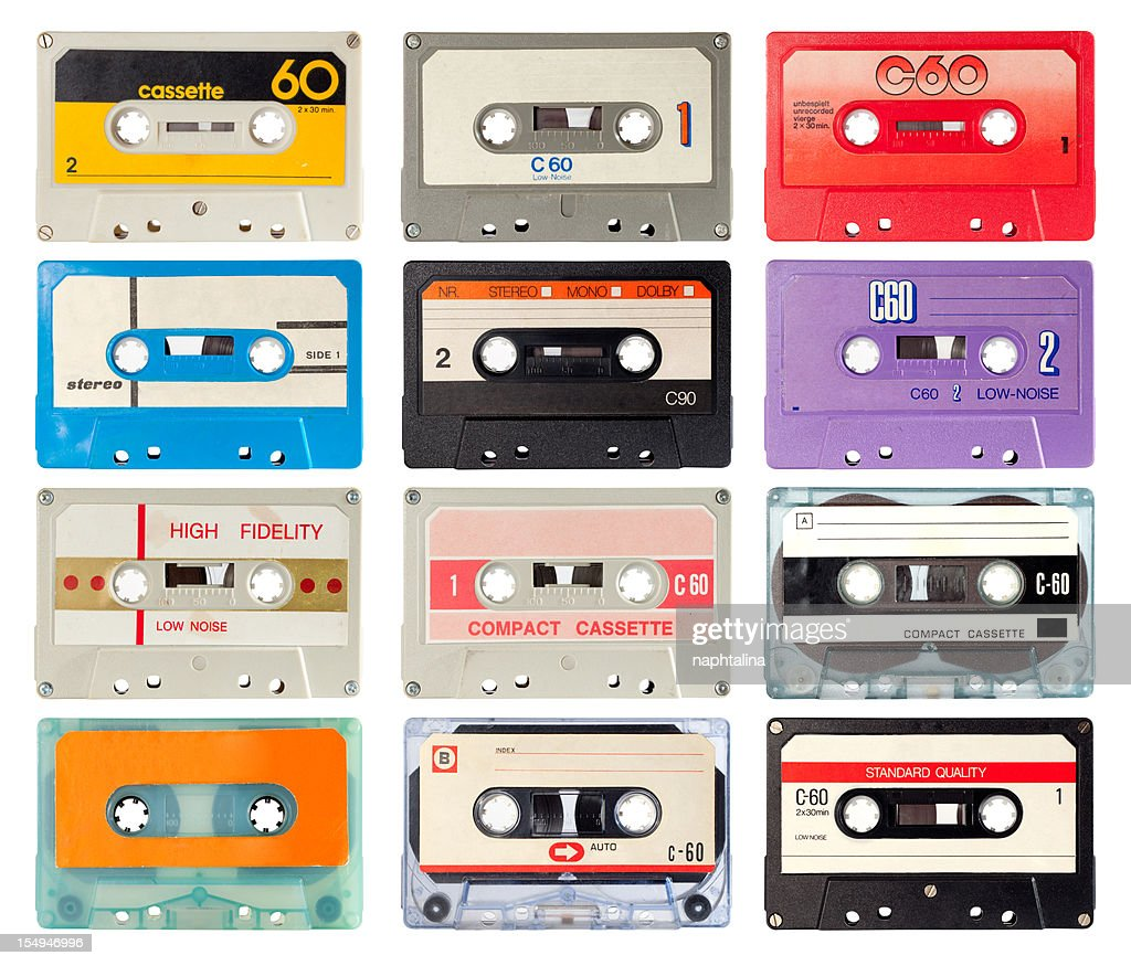 audio cassette of the eighties : Stock Photo