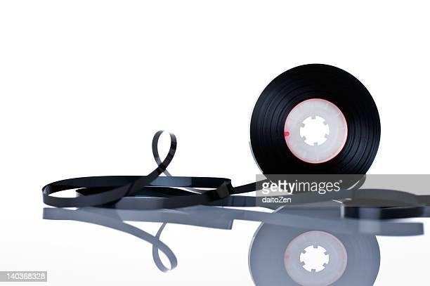 audio cassette - opslagmedia voor analoge audio stockfoto's en -beelden