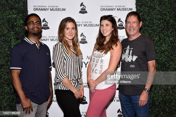 Audio Engineer Jason RE Sears Fmr LA Chapter Governers Chrissy Stuart and Cathy Heller Hot Topic Human Resource Officer Joe Emory at the GRAMMY Camp...