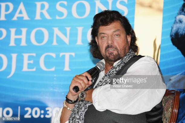 Audio engineer songwriter musician and record producer Alan Parsons attends a press conference to promote his concert 'Symphonic Project' and his...
