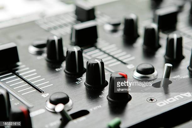 audio equipment with knobs and levers sound system - electric mixer stock pictures, royalty-free photos & images