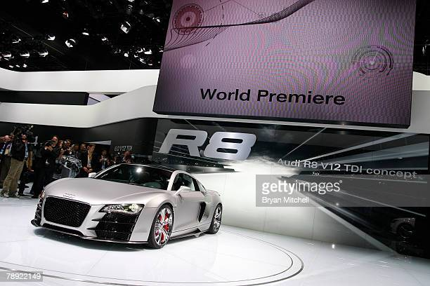 Audio held the world premiere of the Audi R8 V12 TDI diesel engine concept car to the world automotive media during the press preview days at the...