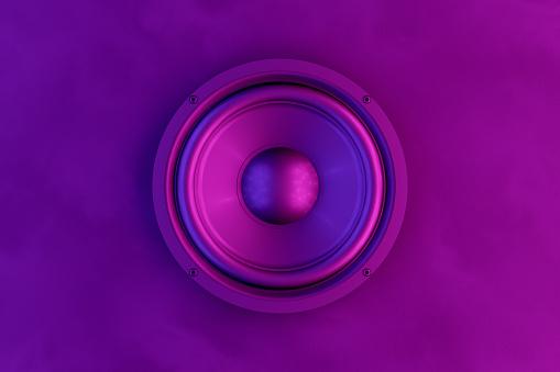 Audio Speaker Background with Neon Lights 1145058898