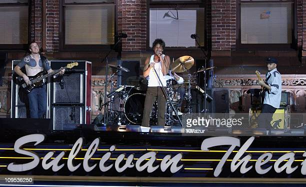 Audioslave during Audioslave Perform on the Roof of the Ed Sullivan Theatre for the 'Late Show with David Letterman' November 25 2002 at Ed Sullivan...