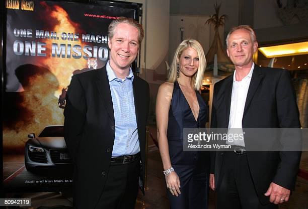 Audi's Scott Keogh, Gwyneth Paltrow, and Audi's Lothar Korn at The Los Angeles Premiere of Iron Man held at The Chinese Theater on April 30, 2008 in...