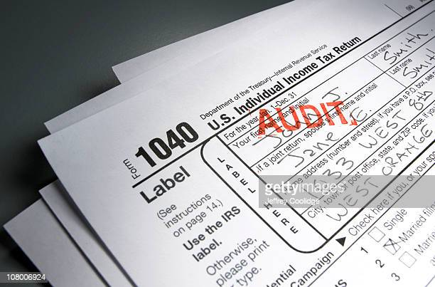 Audit Stamp on Tax Form