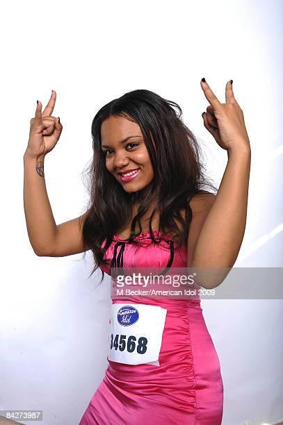 Auditioner Samantha Llechuku 18 poses for a portrait on July 25 2008 at Jobingcom Arena in Phoenix Arizona