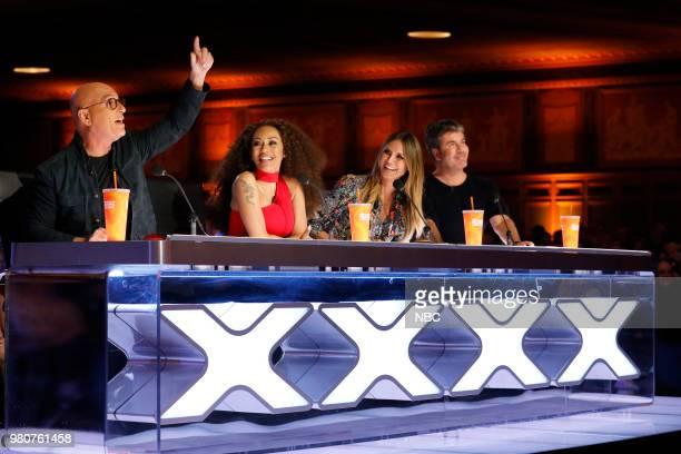 S GOT TALENT Auditions 4 Episode 1304 Pictured Howie Mandel Mel B Heidi Klum Simon Cowell