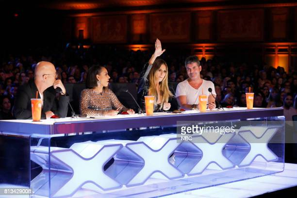 S GOT TALENT Auditions Episode 1206 Pictured Howie Mandel Mel B Heidi Klum Simon Cowell