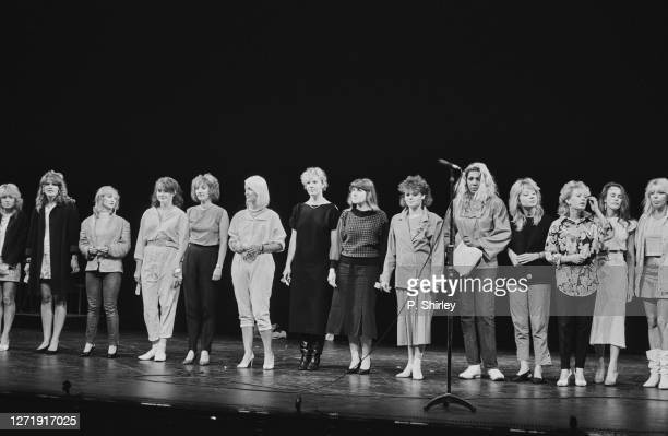 Auditions for a new member of British pop group Bucks Fizz at the Prince of Wales Theatre in London UK 21st June 1985 The group are are seeking a...