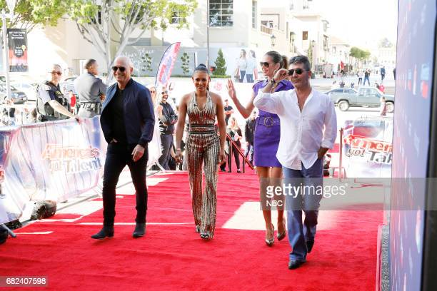 S GOT TALENT 'Auditions Pasadena Civic Auditorium' Pictured Howie Mandel Mel B Heidi Klum Simon Cowell