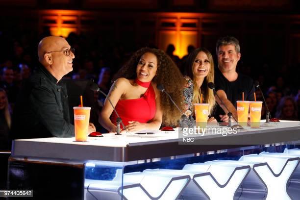 S GOT TALENT Auditions Pictured Howie Mandel Mel B Heidi Klum Simon Cowell