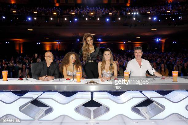 S GOT TALENT Auditions Pictured Howie Mandel Mel B Tyra Banks Heidi Klum Simon Cowell
