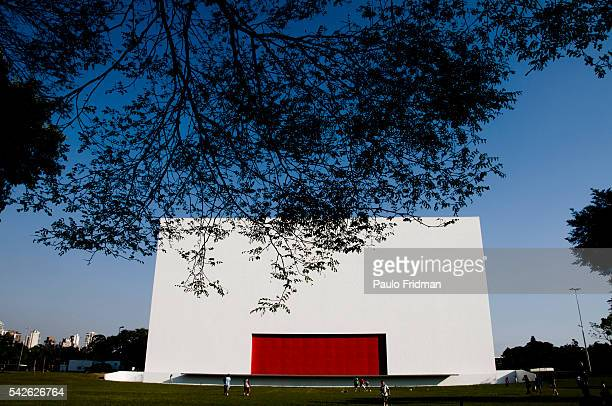 Auditorio Ibirapuera in Ibirapuera Park Sao Paulo Brazil The structure is designed by Architect Oscar Niemeyer