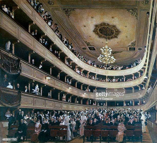 'Auditorium in the Old Burgtheater Vienna' 1888 From the collection of the Historical Museum der Stadt Wien Vienna