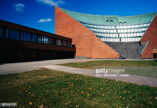Auditorium of the main building of Helsinki University of Technology 19551964 designed by Alvar Aalto Otaniemi Espoo Helsinki Finland