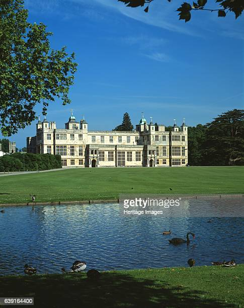 Audley End House and Gardens Saffron Walden Essex c19902010 View of the West front from across the lake 17thcentury country house outside Saffron...