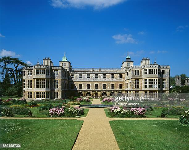 Audley End House Gardens c19902010 Saffron Walden Essex View of the East front and the parterre flower garden A largely early 17thcentury country...