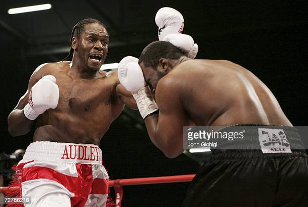 Audley Harrison connects with a left uppercut against Danny Williams during their Commonwealth Heavyweight title fight on December 9 2006 at the...