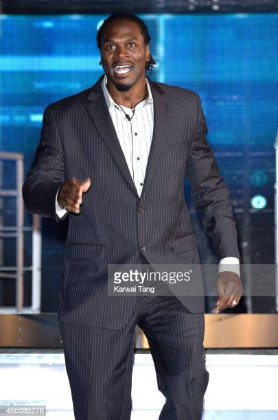 Audley Harrison is evicted from the Celebrity Big Brother house at Elstree Studios on September 12 2014 in Borehamwood England