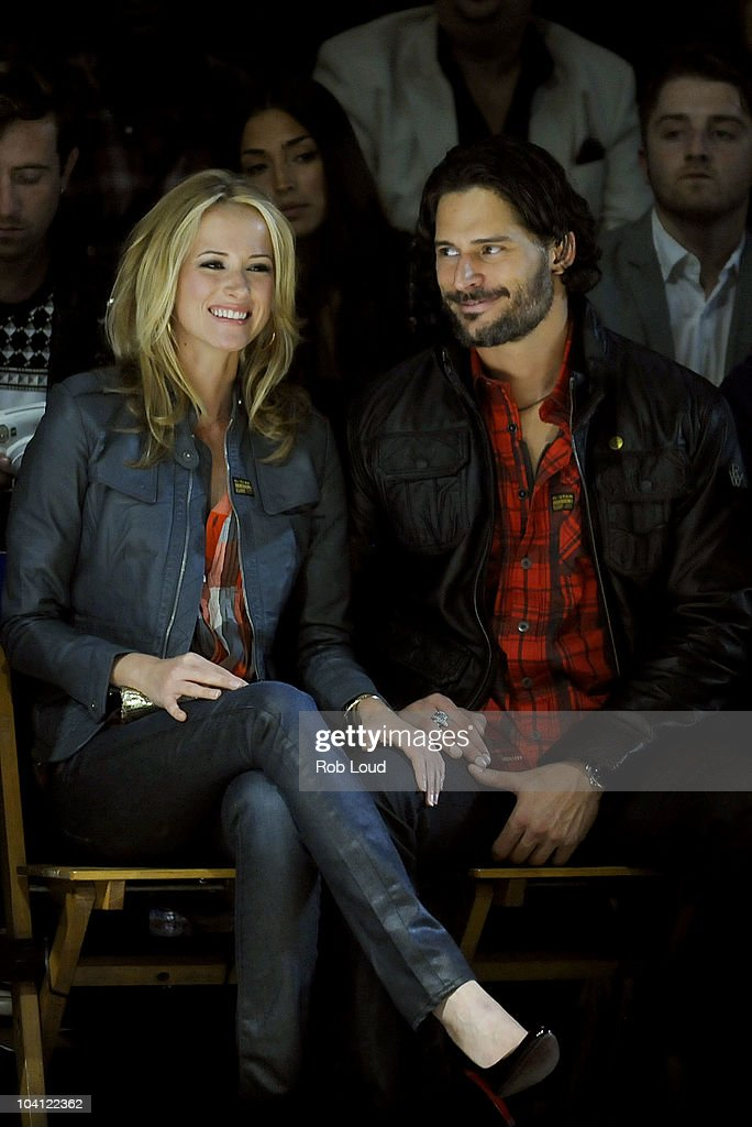 Audra Marie and Joe Manganiello attend the G-Star Spring 2011 fashion show during Mercedes-Benz Fashion Week at Pier 94 on September 14, 2010 in New York City.