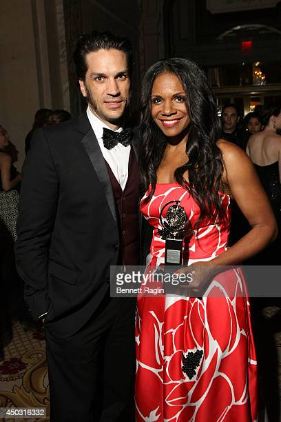 Audra McDonald and Will Swenson attend the 68th Annual Tony Awards Gala at The Plaza Hotel on June 8 2014 in New York City