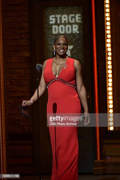 Audra McDonald at THE 70TH ANNUAL TONY AWARDS live from the Beacon Theatre in New York City Sunday June 12 on the CBS Television Network
