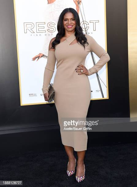 """Audra McDonald attends the Los Angeles Premiere of MGM's """"Respect"""" at Regency Village Theatre on August 08, 2021 in Los Angeles, California."""