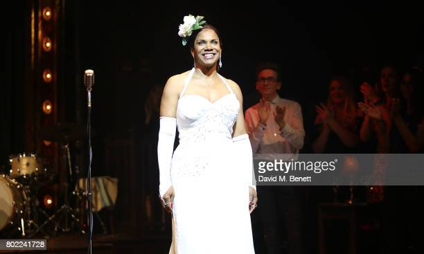 Audra McDonald attends the press night performance of ''Lady Day At Emerson's Bar Grill' at Wyndhams Theatre on June 27 2017 in London England