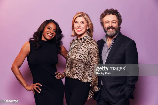 Audra McDonald Christine Baranski and Michael Sheen of CBS's 'The Good Fight' poses for a portrait during the 2019 Winter TCA at The Langham...