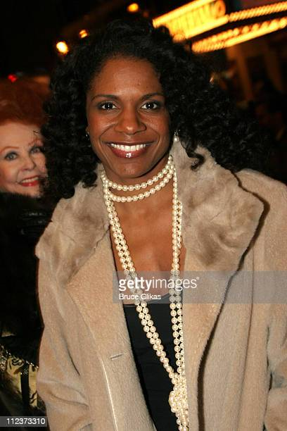 Audra McDonald during 'Chita Rivera The Dancer's Life' Broadway Opening Night Arrivals at The Gerald Schoenfeld Theatre in New York City New York...