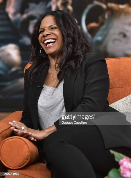 Audra McDonald is seen on the set of 'Despierta America' at Univision Studios on March 9 2017 in Miami Florida