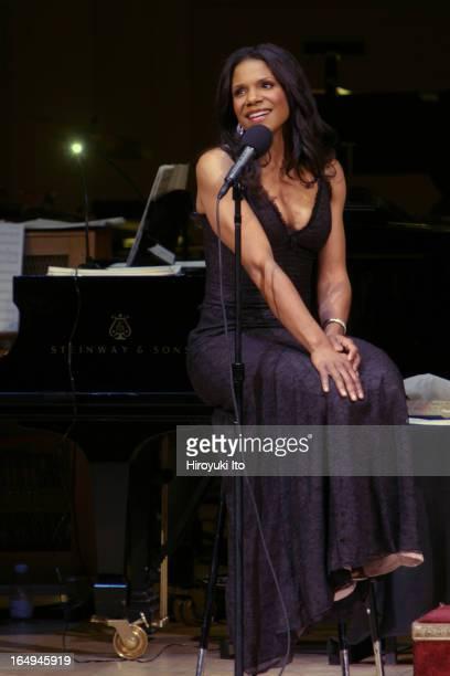 Audra McDonald performing at Carnegie Hall on Saturday night April 29 2005