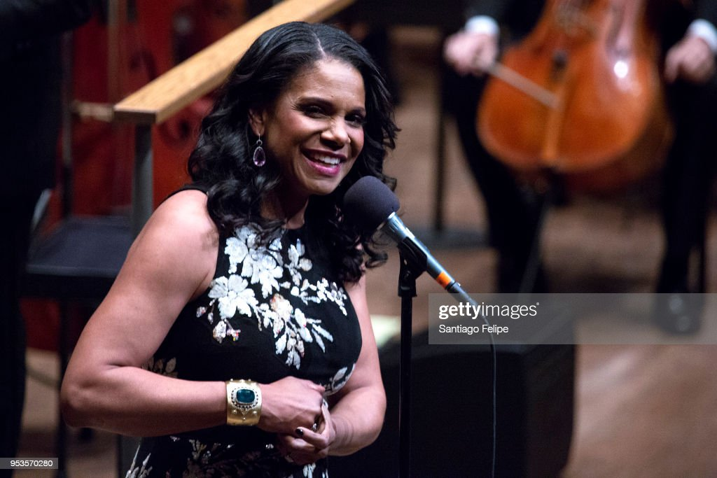 Audra McDonald performs onstage with the New York Philharmonic at Lincoln Center on May 1, 2018 in New York City.