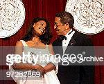 Audra McDonald who won Best Supporting Actress in a Musical for Ragtime with Gregory Hines during Tony Awards at Radio City Music Hall