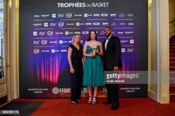 Audreay Sauret Alexia Chartereau and Boris Diaw during the Trophy Award LNB Basketball at Salle Gaveau on May 16 2018 in Paris France