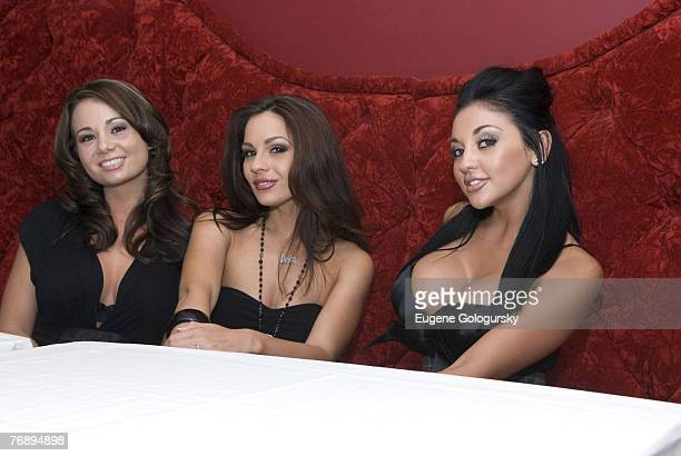 "Audrey Bitoni, Kirsten Price and Holly West at ""America's Next Hot Porn Star"" New York City Press Conference"