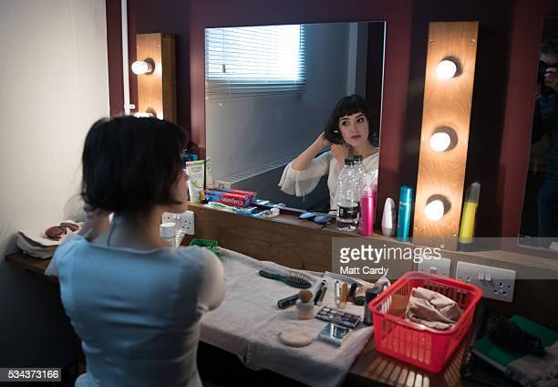 Audrey Brisson prepares in her dressing room for her part in The Flying Lovers of Vitebsk which is part of the Bristol Old Vic's 250th anniversary...