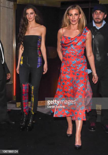 Audrey Caroline McGraw and Faith Hill are seen outside the Versace PreFall 2019 Collection on December 2 2018 in New York City