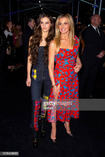 Audrey Caroline McGraw and Faith Hill attend the Versace PreFall 2019 Runway Show at the American Stock Exchange in the Financial District on...