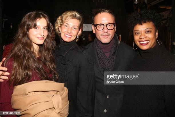 Audrey Caroline McGraw, mother Faith Hill, husband Tim McGraw and Jacqueline B. Arnold pose backstage at the hit musical based on the Baz Luhrmann...