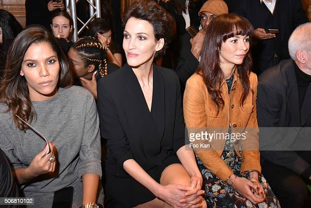 Audrey Chauvau Linda Hardy and Anais Tellenne attend the Dany Atrache Spring Summer 2016 show as part of Paris Fashion Week on January 25 2016 in...