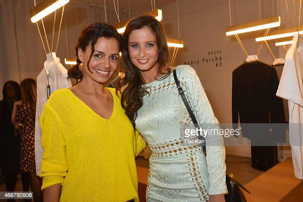 Audrey Chauveau and Miss France 2010 Malika Menard attend the Basus Cocktail at Le Perchoir on March 18 2015 in Paris France