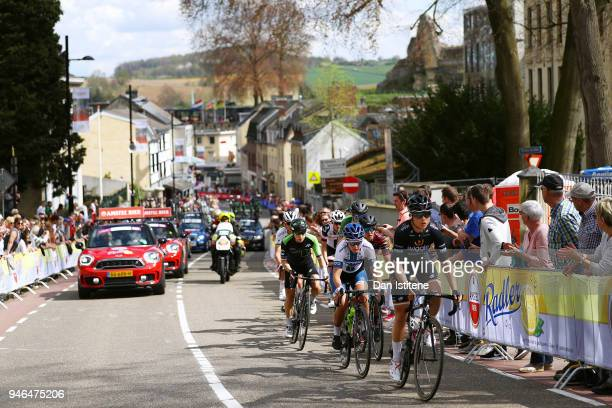Audrey Cordon of France and Team Wiggle High5 / Lotta Lepisto of Finland and Cervelo Bigla Pro Cycling Team / during the 5th Amstel Gold Race 2018 a...