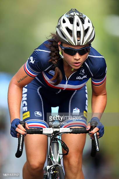 Audrey Cordon of France in action during the Elite Women's Road Race on September 28, 2013 in Florence, Italy.