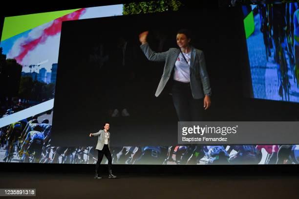 Audrey CORDON RAGOT during the presentation of the Tour de France 2022 at Palais des Congres on October 14, 2021 in Paris, France.