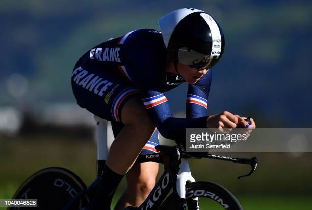 Audrey Cordon Ragot of France / during the Women Elite Individual Time Trial a 27,8km race from Wattens to Innsbruck 582m at the 91st UCI Road World...