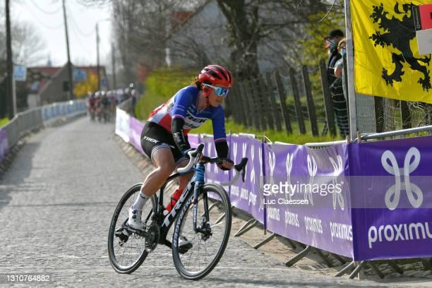 Audrey Cordon-Ragot of France and Team Trek- Segafredo during the 18th Ronde van Vlaanderen - Tour of Flanders 2021, Women's Elite a 152,4km race...