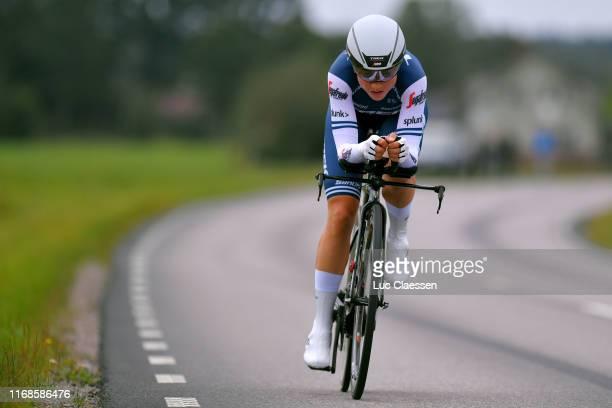 Audrey Cordon-Ragot of France and Team Trek - Segafredo / during the Postnord Vargarda WestSweden 2019, Team Time Trial a 36km stage from Vargarda to...
