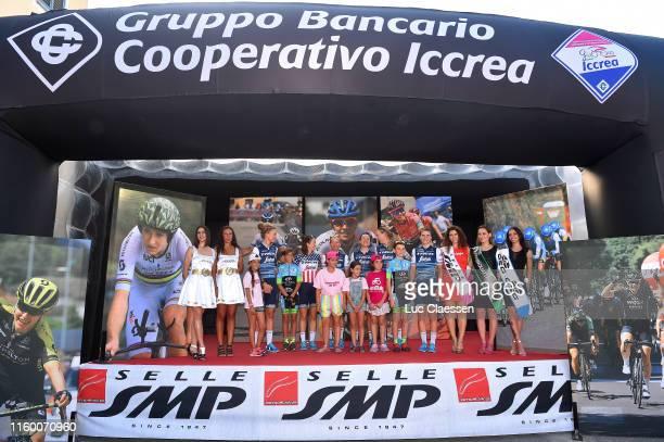 Audrey Cordon-Ragot of France and Team Trek- Segafredo / Elisa Longo Borghini of Italy and Team Trek- Segafredo / Anna Plichta of Poland and Team...